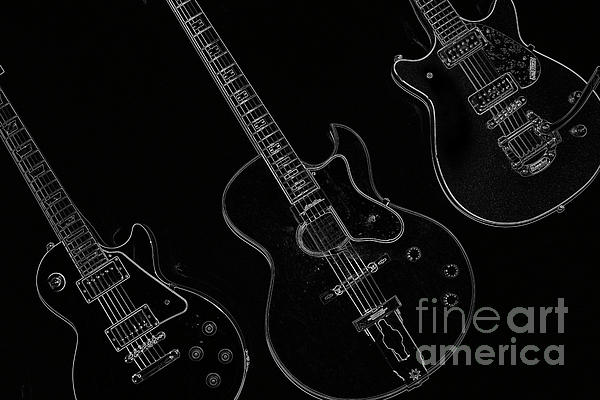 Guitar Trio Print by Karol  Livote