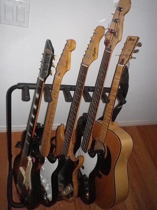 Guitars Print by Michael Titherington