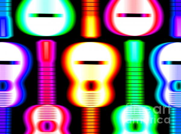 Guitars On Fire 4 Print by Andy Smy