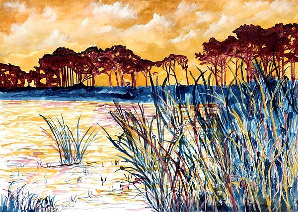 Gulf Coast Seascape Tropical Art Print Painting