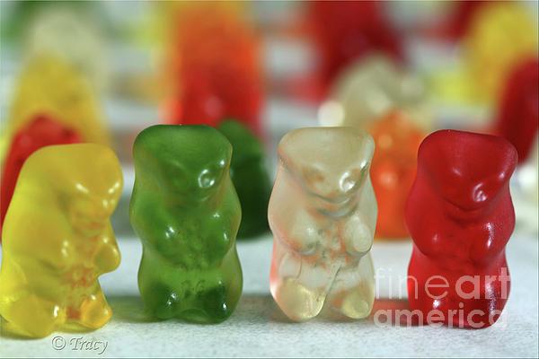 Gummy Bear Meeting Print by Tracy  Hall