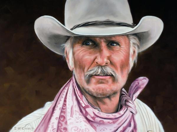 Gus Mccrae Texas Ranger Print by Rick McKinney