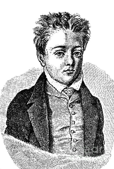 Gustave Flaubert, Age 10, French Author Print by Photo Researchers