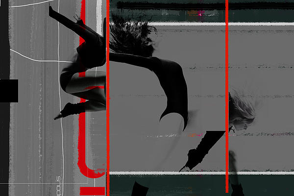 Gymnastics Print by Naxart Studio