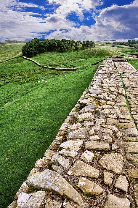 Hadrian's Wall Print by Wendy White