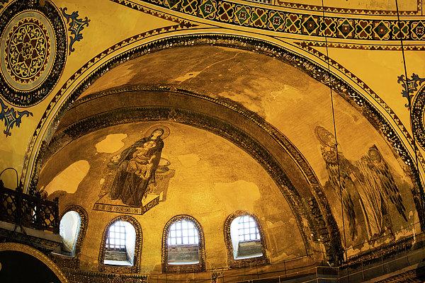 Hagia Sophia Architectural Details Print by Artur Bogacki