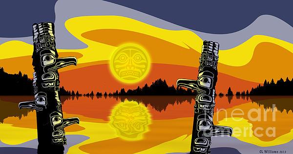 Haida Sunset Print by Christopher Williams