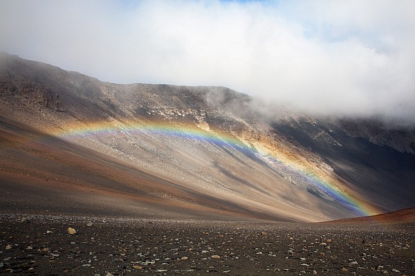 Haleakala Crater Rainbow Photograph