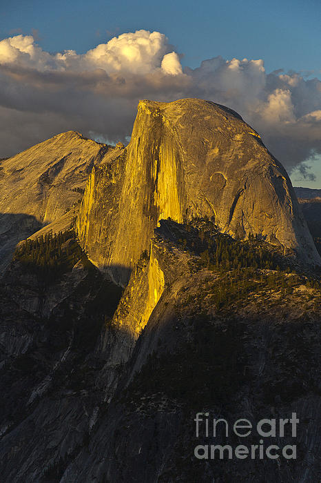 Half Dome At Sunset Print by Rodney Cammauf