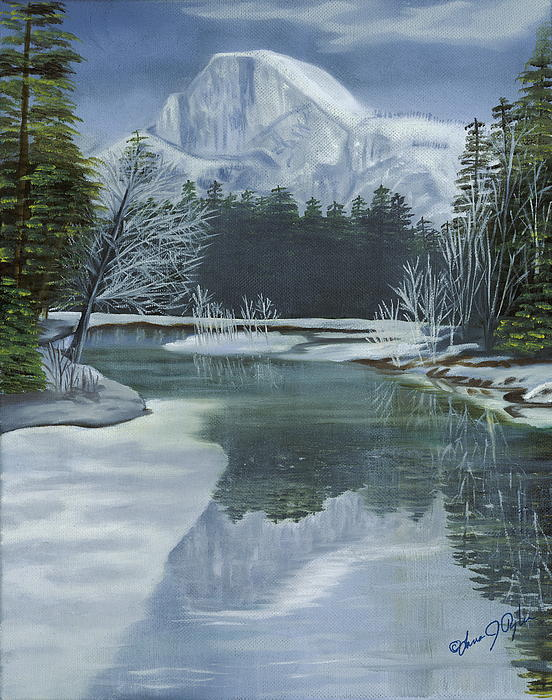 Half Dome Reflections Print by Lana Tyler
