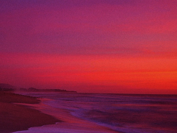 Half Moon Bay Sunset Print by Vicky Brago-Mitchell