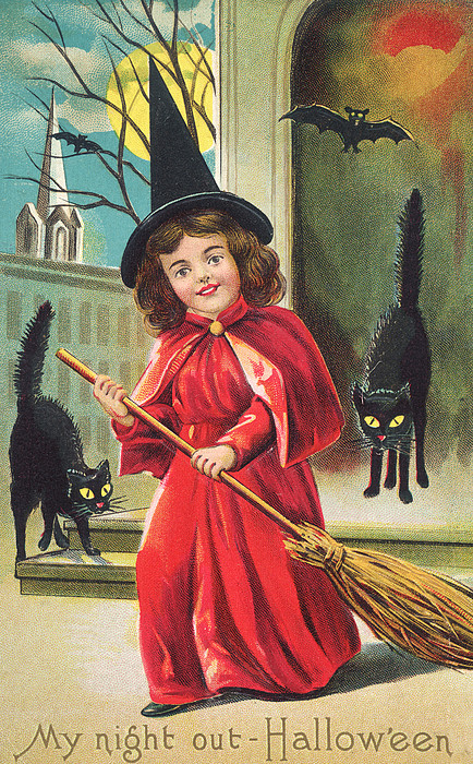 Halloween Night Out Print by Hulton Archive