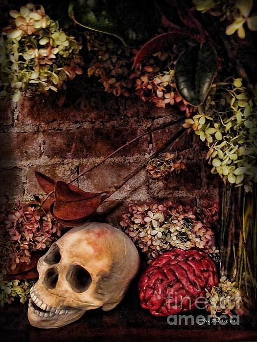 Halloween Still Life Print by Joan  Minchak