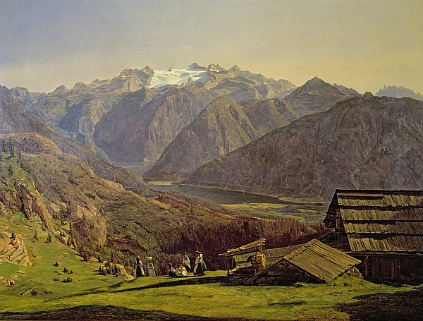 Hallstatter See Print by Ferdinand Georg Waldmuller
