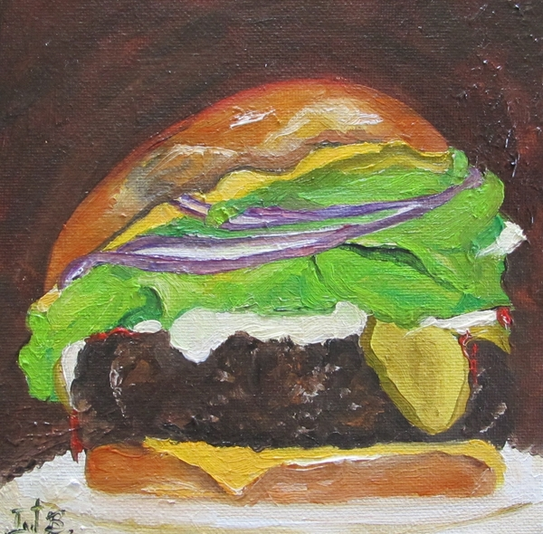 Hamburger Heaven Print by Irit Bourla