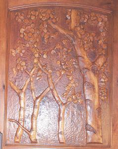 Hand Carved Entry Door  Aspen Sculpture 