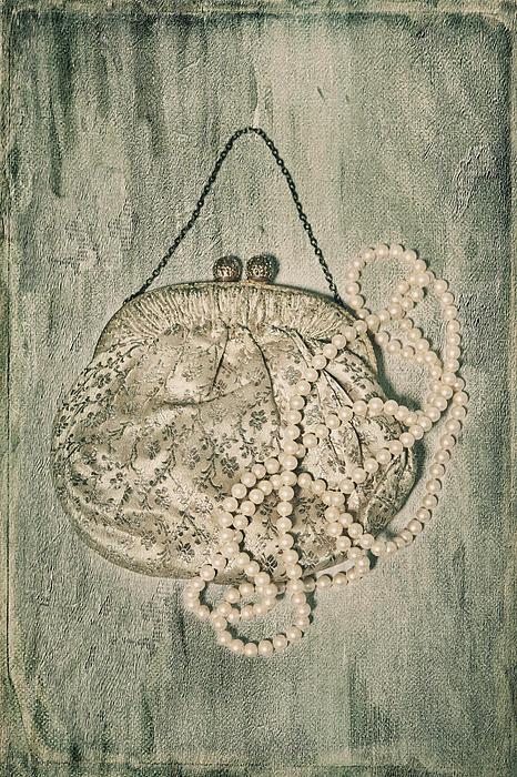 Handbag With Pearls Print by Joana Kruse