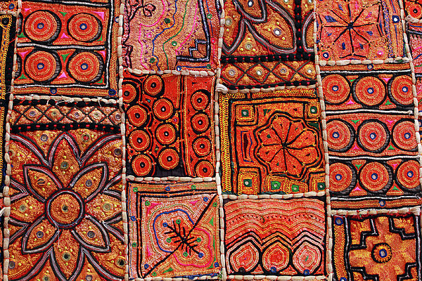 Handicraft Fabric Art Print by Milind Torney