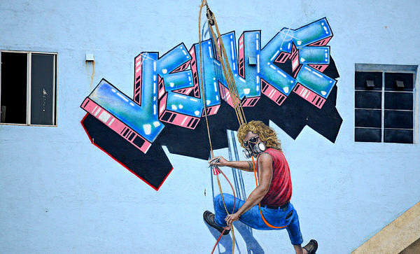 Hanging Around In Venice Print by Fraida Gutovich