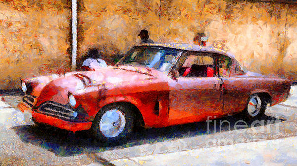 Hanging With My Buddy . 1953 Studebaker . Painterly . 5d16513 Print by Wingsdomain Art and Photography