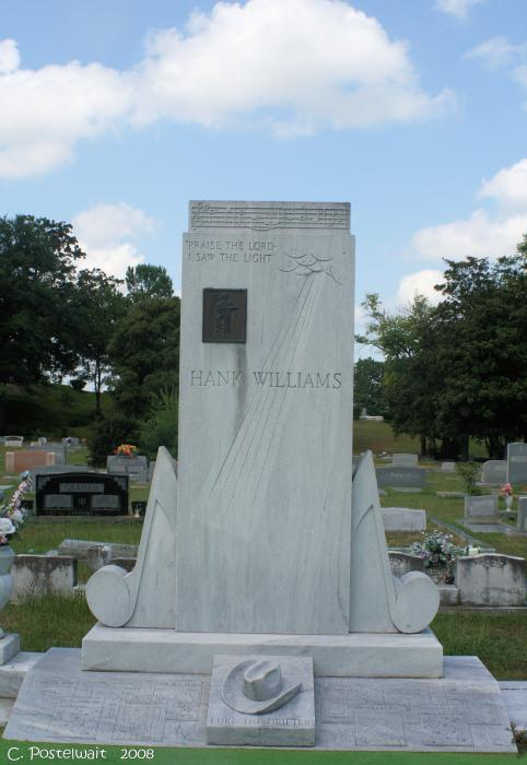 Hank Williams Sr. Headstone Print by Carolyn Postelwait