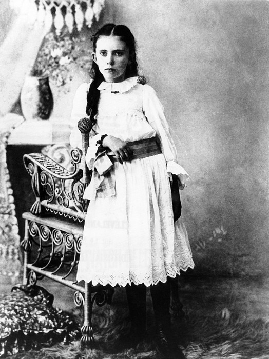 Hannah Milhaus At The Age Of 10. The Print by Everett
