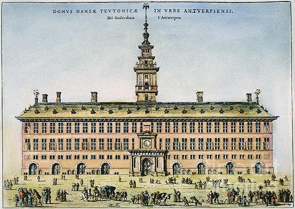 Hanseatic League, Antwerp Print by Granger