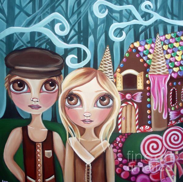 Hansel And Gretel Print by Jaz Higgins