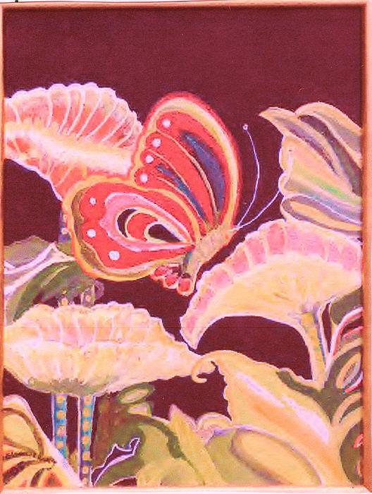Happy Butterfly Print by Anne-Elizabeth Whiteway
