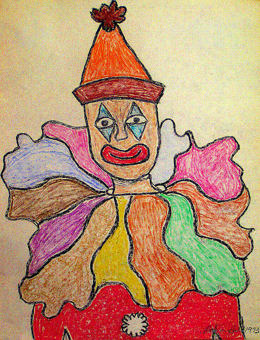 Happy Clown Print by Robyn Louisell