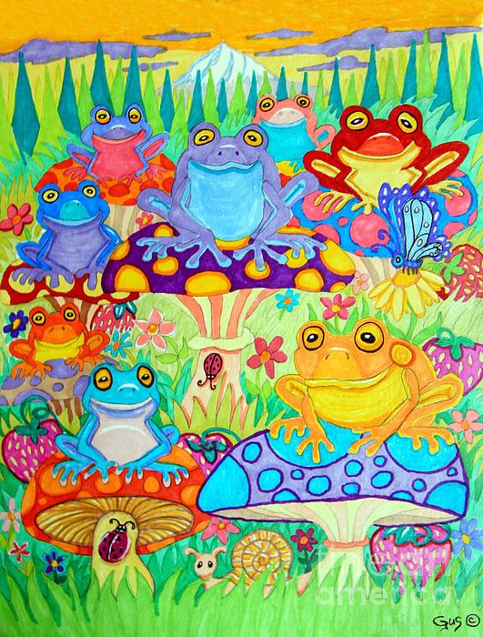 Nick Gustafson - Happy Frogs in Mushroom Valley