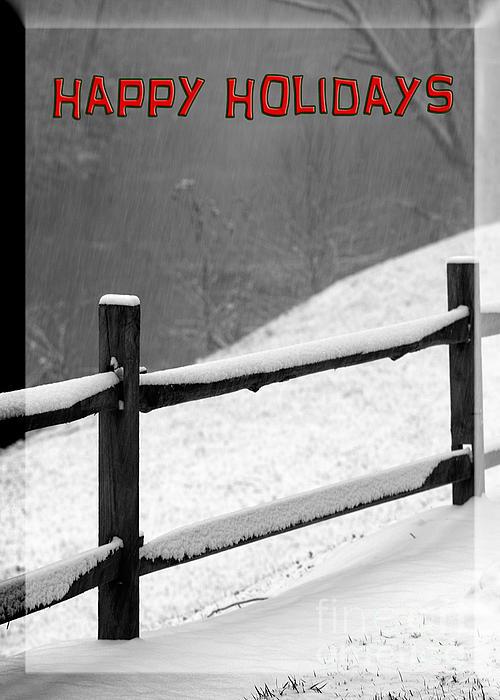 Happy Holidays Card Print by John Haldane