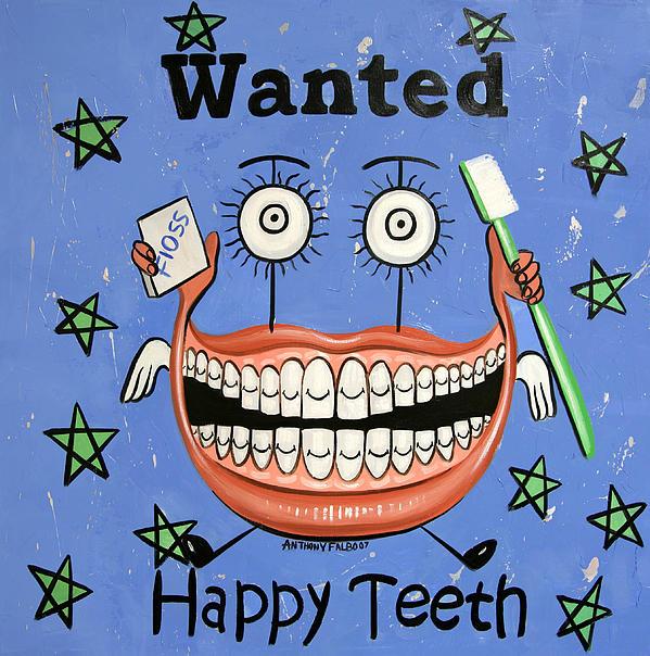 Happy Teeth Print by Anthony Falbo
