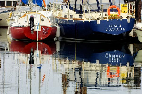 Harbor Reflections  Print by Bob Christopher
