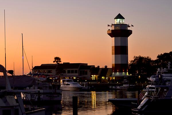 Bedford Shore Photography - Harbor Town Light House at Dusk