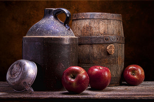 Hard Cider Still Life Print by Tom Mc Nemar