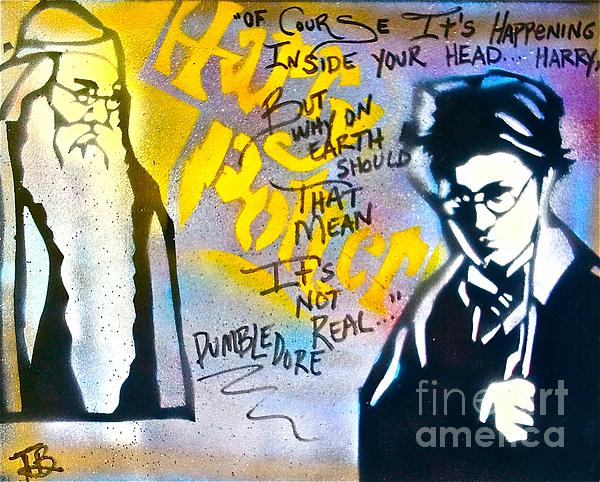 Harry Potter With Dumbledore Print by Tony B Conscious