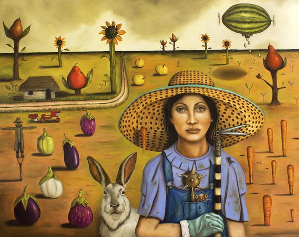 Harvey And The Eccentric Farmer Print by Leah Saulnier The Painting Maniac
