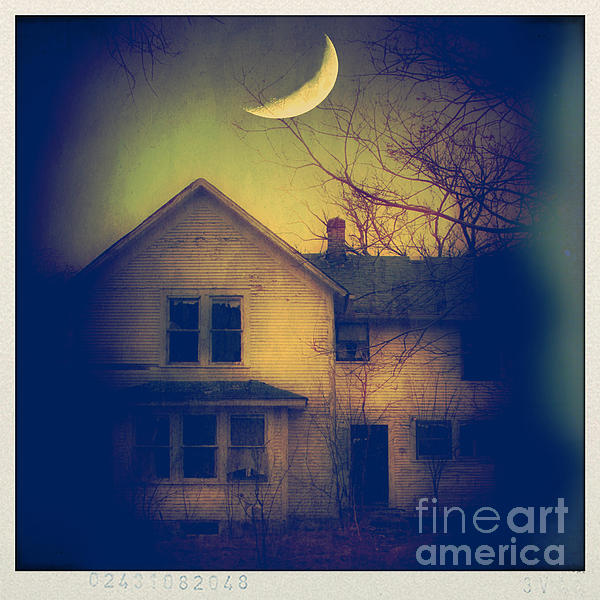 Haunted House Print by Jill Battaglia
