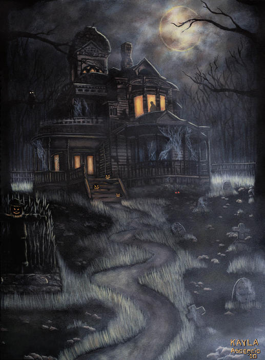 Haunted House Print by Kayla Ascencio
