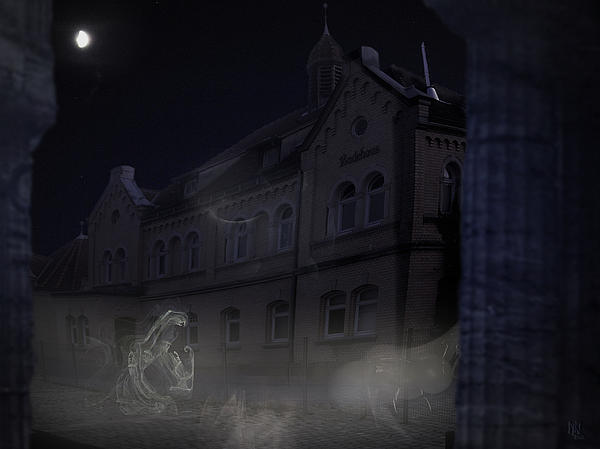 Haunted House Print by Nafets Nuarb