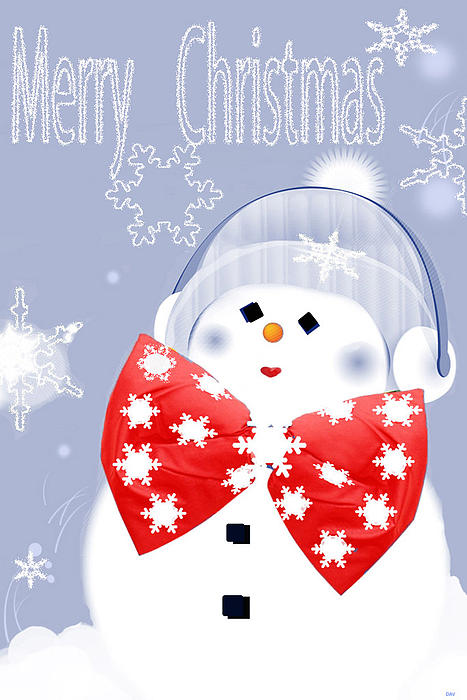 Have A Frosty Holiday Print by Debra     Vatalaro