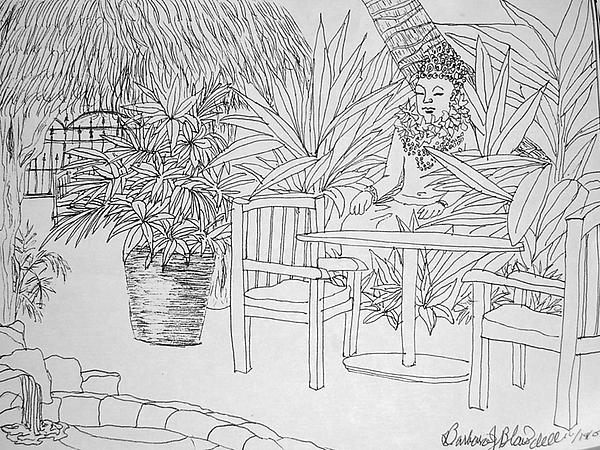 Hawaii coloring page by barbara j blaisdell for Fine art coloring pages