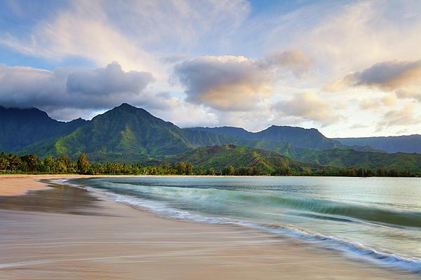 Hawaii Hanalei Dreams Print by Monica and Michael Sweet