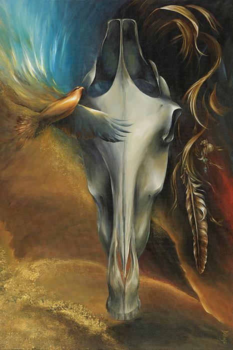 Hawk Medicine Print by Dina Dargo