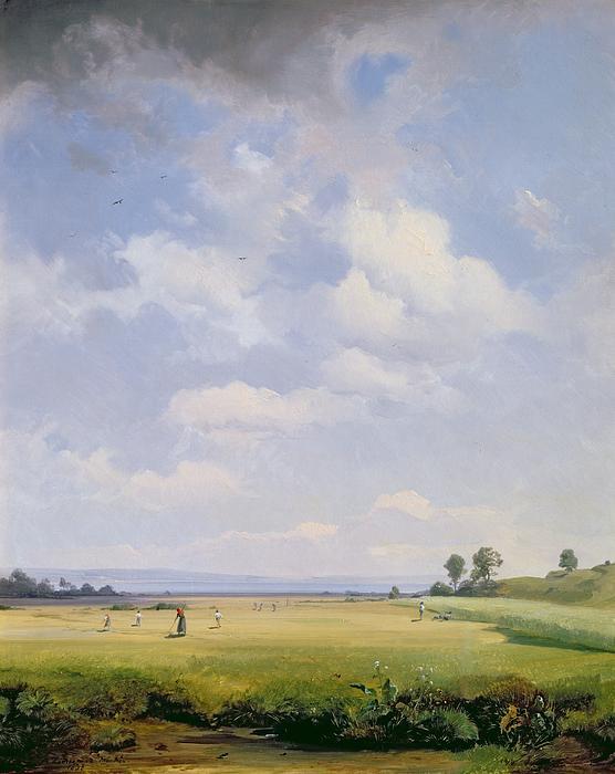 Haymaking Print by August Albert Zimmermann