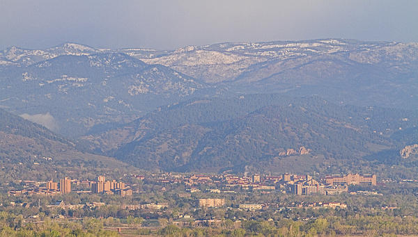 Hazy Low Cloud Morning Boulder Colorado University Scenic View  Print by James BO  Insogna