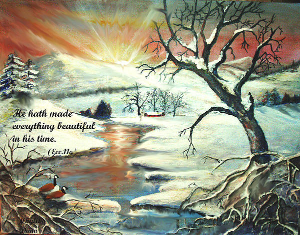 He Hath Made..... Print by Phyllis Dunn