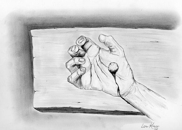 He Was Pierced Print by Lou Knapp