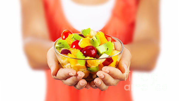 Healthy Fruit Salad Print by Anna Omelchenko